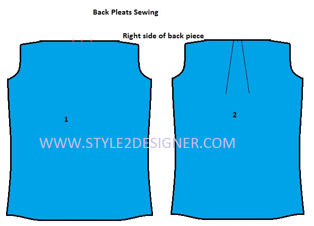 pleats making on shirt