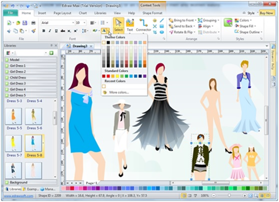 Edraw Fashion Design Software