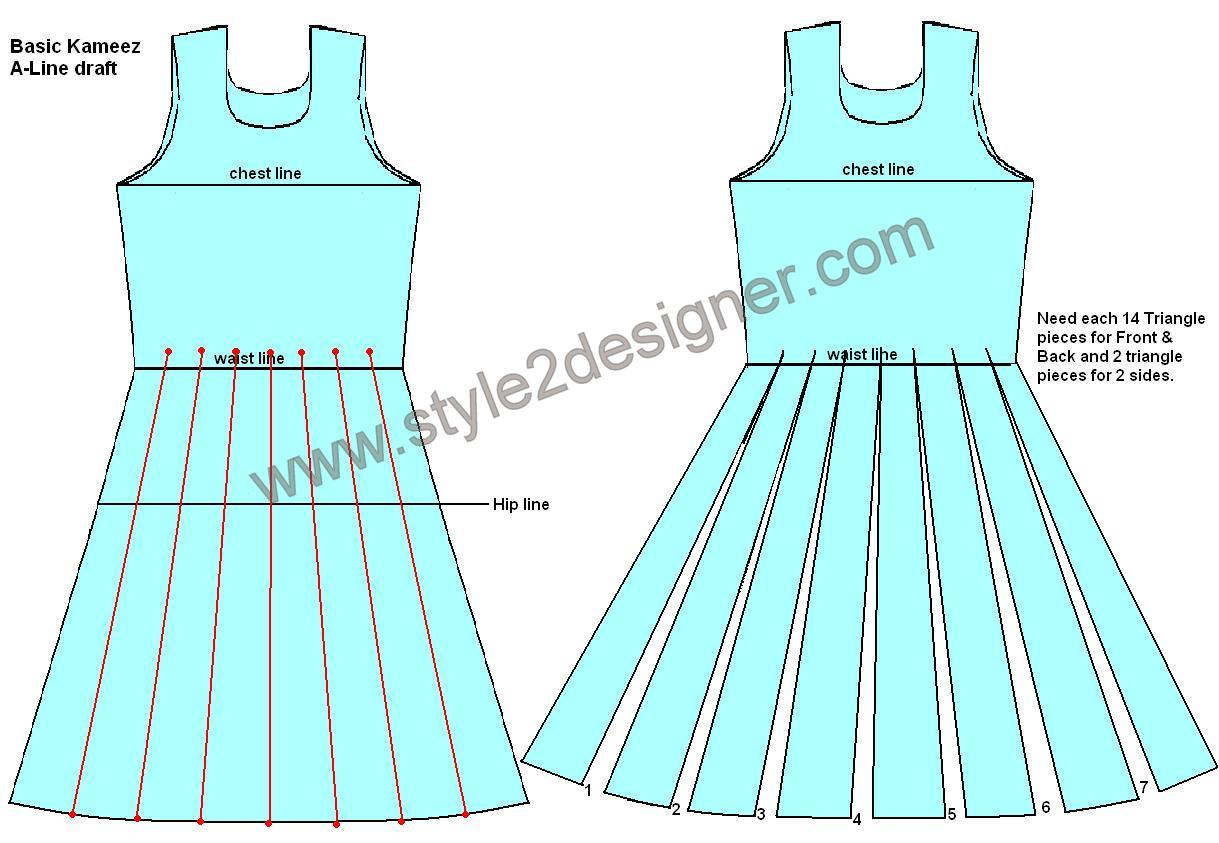Triangle panel Anarkali design