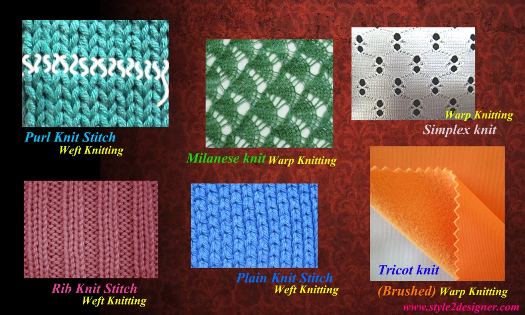 Fabric Knitting Process : Warp and weft knitting method style designer