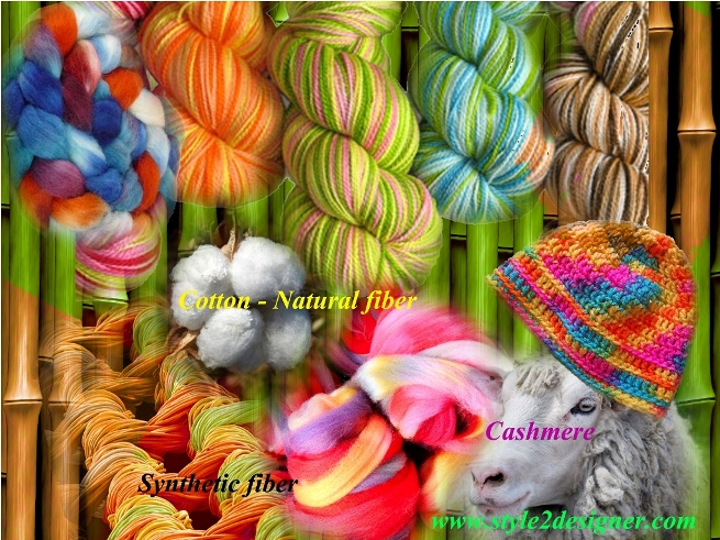 Colorful woolen Threads, cap, pure cotton