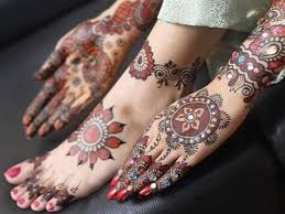 arabic wedding henna pattern