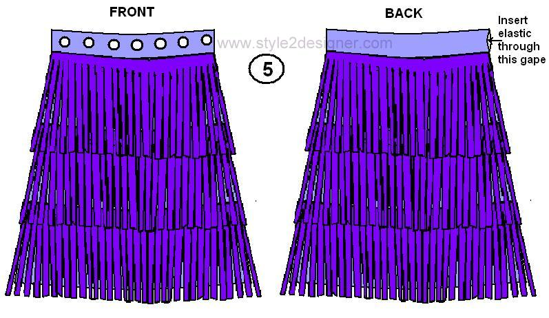 Stylish Fringed Skirt Pattern Drafting and Sewing 3
